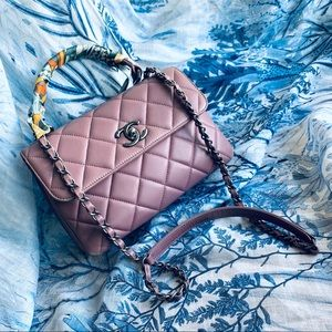 Chanel Small Trendy CC in Mauve RHW